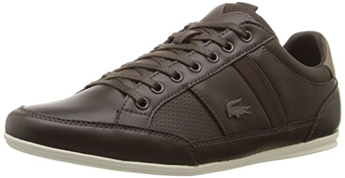 Lacoste Men's Chaymon Prm Fashion Sneaker, Brown, 10 M US