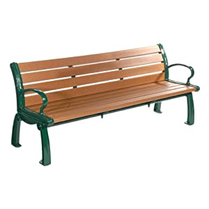 Heritage Recycled Plastic Outdoor Bench 8 39 L Patio Lawn Garden