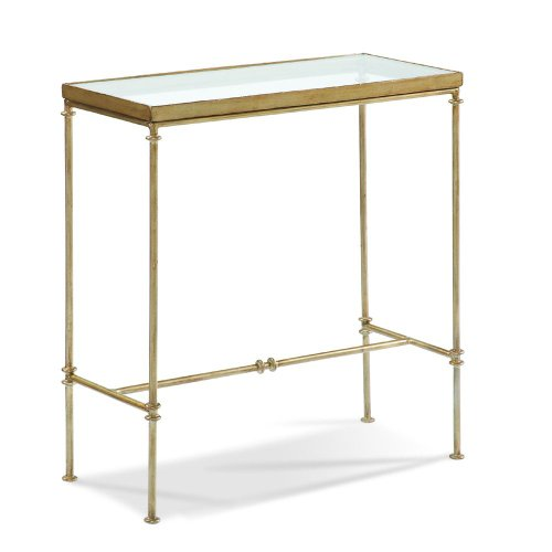 Cheap Glass Top Side Table by Sherrill Occasional – CTH – Antique Gold (370-900) (370-900)