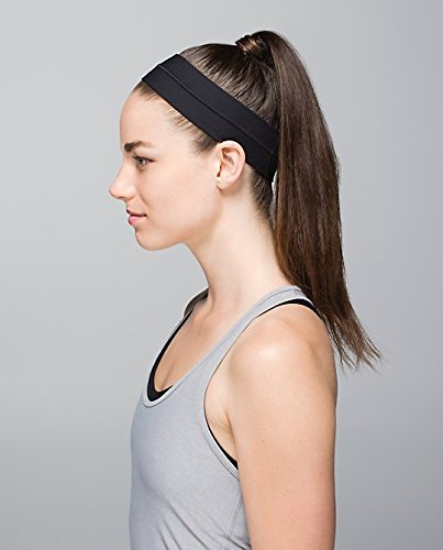 ELAN - Sports Headband - NO SLIP GRIP Material, Sweat Wicking, Head Band for Sports, Yoga and Exercise - Love It Guaranteed! (Black) (Starter Wicking compare prices)