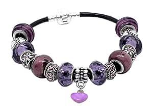 Handmade Beautiful Purple Bracelet with Purple Gift Box by Libby's Market Place