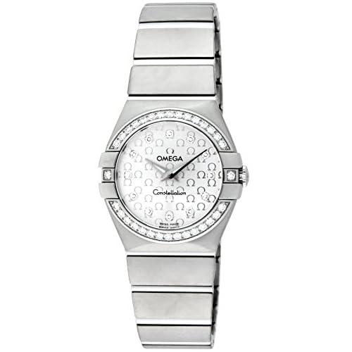 [オメガ]OMEGA 腕時計 コンステレーション シルバー文字盤 ダイヤ 100M防水 123.15.27.60.52.001 レディース 【並行輸入品】