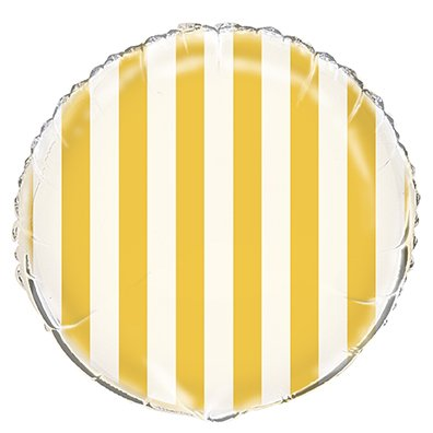"18"" Lovely Yellow Stripe Infatable Balloon"