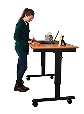 "60"" Bamboo Crank Stand Up Desk"