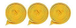 Sri Vaari Lace Yellow Polyester Shoe Lace (Pack Of 3)