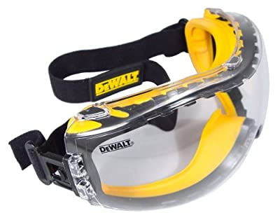 DEWALT DPG82-11C Concealer Clear Anti-Fog, Dual Mold Safety-Goggle-Super Size Value Package 3 Count by DEWALT