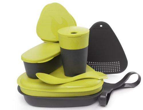 Light My Fire 8-Piece Bpa-Free Meal Kit 2.0 With Plate, Bowl, Cup, Cutting Board, Spork And More, Lime