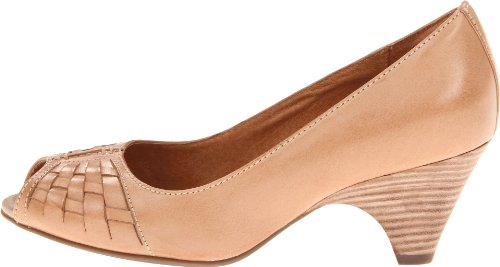 Clarks Women's Zaya Path Peep-Toe Pump,Nude,8 M US