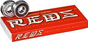 Bones Super Reds Bearings, 8 Pack set by Bones Bearings