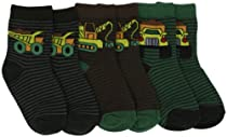 Country Kids Baby-boys Infant Monster Truck 3 Pair Socks, Olive, 12-24 Months