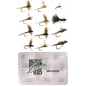 Eastern Trout Fly Fishing Flies: 12 Flies Plus Fly Box by Discountflies