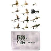 Eastern Trout Fly Fishing Flies: 12 Flies Plus Fly Box