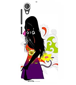 A black lady cartoon Designer Back Case Cover for HTC Desire 820 - B1562