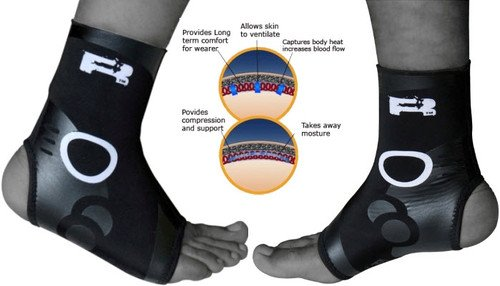 Authentic RDX Pro Neoprene Ankle Foot Brace Support Pad Guard, Small, Medium, Large