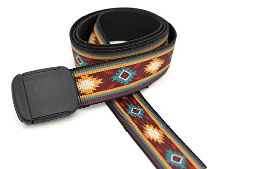 Southwestern Pattern Pueblo Hiker Belt Made in USA by Thomas Bates (Southwestern Belt Buckle compare prices)