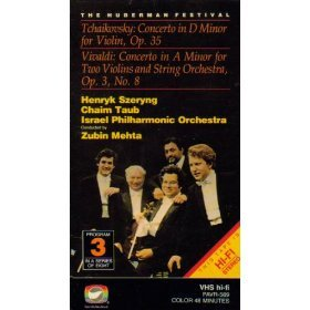 Tchaikovsky: Concerto in D Minor for Violin, Op. 35/Vivaldi: Concerto in A Minor for Two Violins and String Orchestra, Op. 3, No. 8 [VHS]