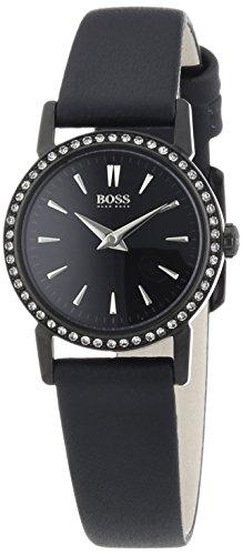 Boss SLIM ULTRA MINI - Reloj de cuarzo para mujer, correa de cuero color negro