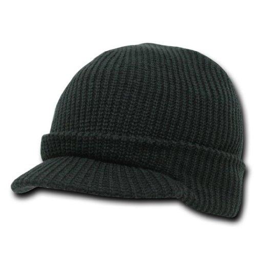 decky-knit-jeep-watch-cap-visor-beanie-one-size-black