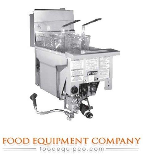 Pitco SG18DI Fryer drop-in gas 70-90 lb. fat cap. (Drop In Fryer compare prices)