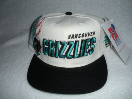 Buy Vancouver Grizzlies Vintage Sports Specialties Shadow-Script Snapback Hat by Sports Specialties