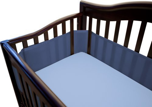 Breathablebaby Breathable Mesh Crib Liner, True Navy Color: True Navy Newborn, Kid, Child, Childern, Infant, Baby