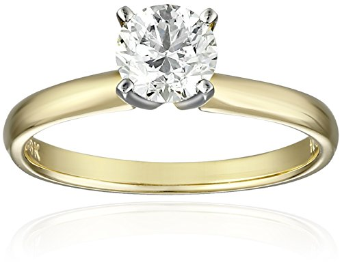 IGI-Certified-18k-White-Gold-Classic-Round-Cut-Diamond-Solitaire-Engagement-Ring-34-carat-H-I-Color-SI1-SI2-Clarity