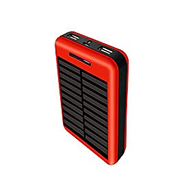 COOLNUT CMSPBS-19 12500mAh Solar Power Bank (RED)
