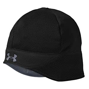 Men's ColdGear® Thermo Run Beanie Headwear by Under Armour One Size Fits All Black