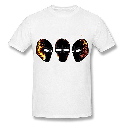 Men's army of two airsoft mask T-shirt-White