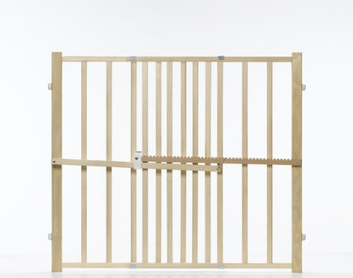 GMI GuardMaster III Tall Wood Slat Pressure Gate - 1