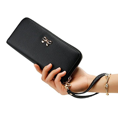 08. GEARONIC TM Fashion Lady Women Clutch Leather Long Wallet Card Holder Purse Handbag Bag