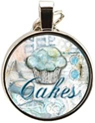 Santa Barbara Design Studio Two Sided Round Double Bubble Jewelry Charm By Artist Sally Jean, Baby Cakes