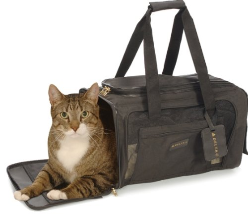 Sherpa 11721 Delta Deluxe Pet Carrier Medium Black