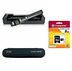 VuPoint ST47 Magic Wand Wireless Portable Scanner with Wi-Fi + Auto-Feed Docking Station + 8GB MicroSD Card + Protective Carrying Case, JPEG/PDF, Color/Mono, 1.5 LCD, 1050 DPI, Document, Photo, Receipts (Black)