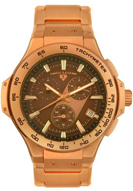 Swiss Legend Men's 40050-RG-44 Maverick Chronograph Rose Gold-Tone Watch