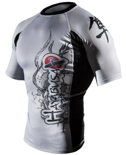 Hayabusa Mizuchi MMA Rash Guard Short Sleeve White, XLarge