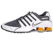 Mens Nike Shox NZ Running Shoes White / Dark Grey / Vivid Orange 378341-138