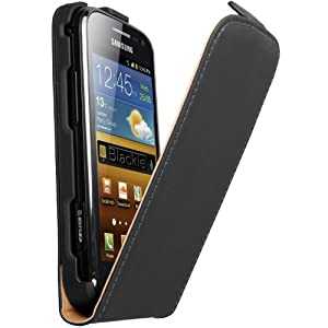 mumbi PREMIUM ECHT Leder Flip Case Samsung Galaxy Ace 2 Tasche