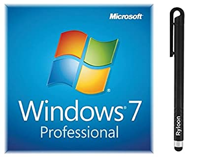 Windows 7 Professional 32/64 bit OEM license key code for 1 PC Bundled with FREE Black Ryloon (R) Stylus Pen