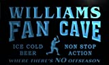 tc1003-b Williams Baseball Fan Cave Man Room Bar Beer Neon Light Sign