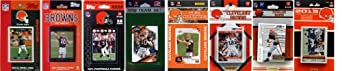 NFL Cleveland Browns 8 Different Licensed Trading Card Team Sets by C&I Collectables