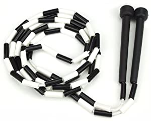 Buy Black and White 7-foot Jump Rope with Plastic Segmentation by K-Roo Sports by K-Roo Sports