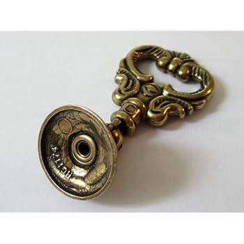 Cabinet Hardware Handle Pull Vintage Look Dresser Pulls Drawer Pull Knobs Drop Ring Handle Antique Bronze 2.4 (60 mm)