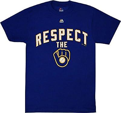 Milwaukee Brewers Respect Men's Blue Majestic Shirt