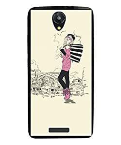Techno Gadgets Back Cover for Intex Aqua 3G Star