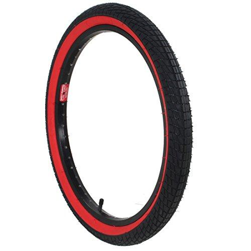 20-Zoll-DSI-BMX-Reifen-20x195-schwarz-mit-roter-oder-weier-Sidewall-grn-oder-beige-Farbeschwarzrot
