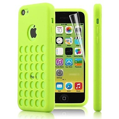 Zlxusa (Tm) Dots Hole Tpu Soft Case For Iphone 5C Green