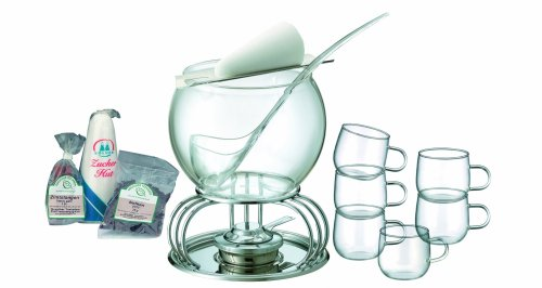 Kela 66160 Glas Feuerzangenbowle-Set Heinz Rhmann