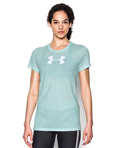 Under Armour Women's Favorite Branded Short Sleeve, Aqua Falls (703), Medium