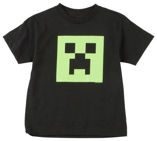 Minecraft Creeper Glow in the Dark Youth T-Shirt, Black Medium